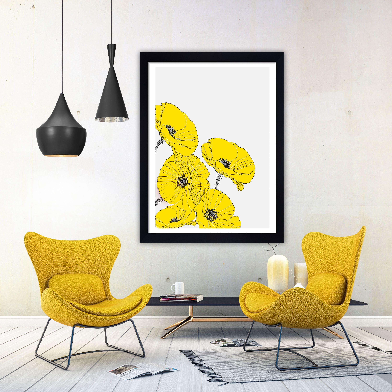Poppies print floral art floral print minimalist print poppies wall ...