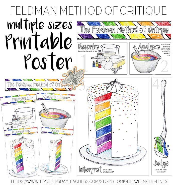 Visual Arts Printable Poster The Feldman Method of
