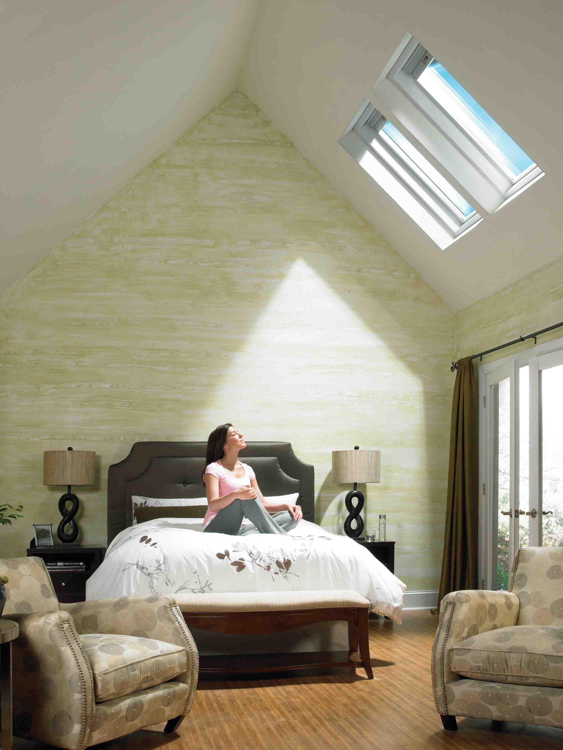 bedroom lighting solutions. Living Room For Sunlight Attic Bedroom Interior Inspiration Lighting Glorious Double Fixed Velux Skylights Solutions