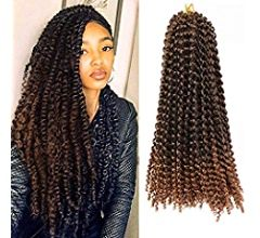 ELIGHTY Passion Twist Hair - 18 Inches Water Wave Crochet Braids Synthetic Heat Resistant Fiber - Soft, Lightweight, Stylish - Natural Braiding Extensions - 6 Packs 4#