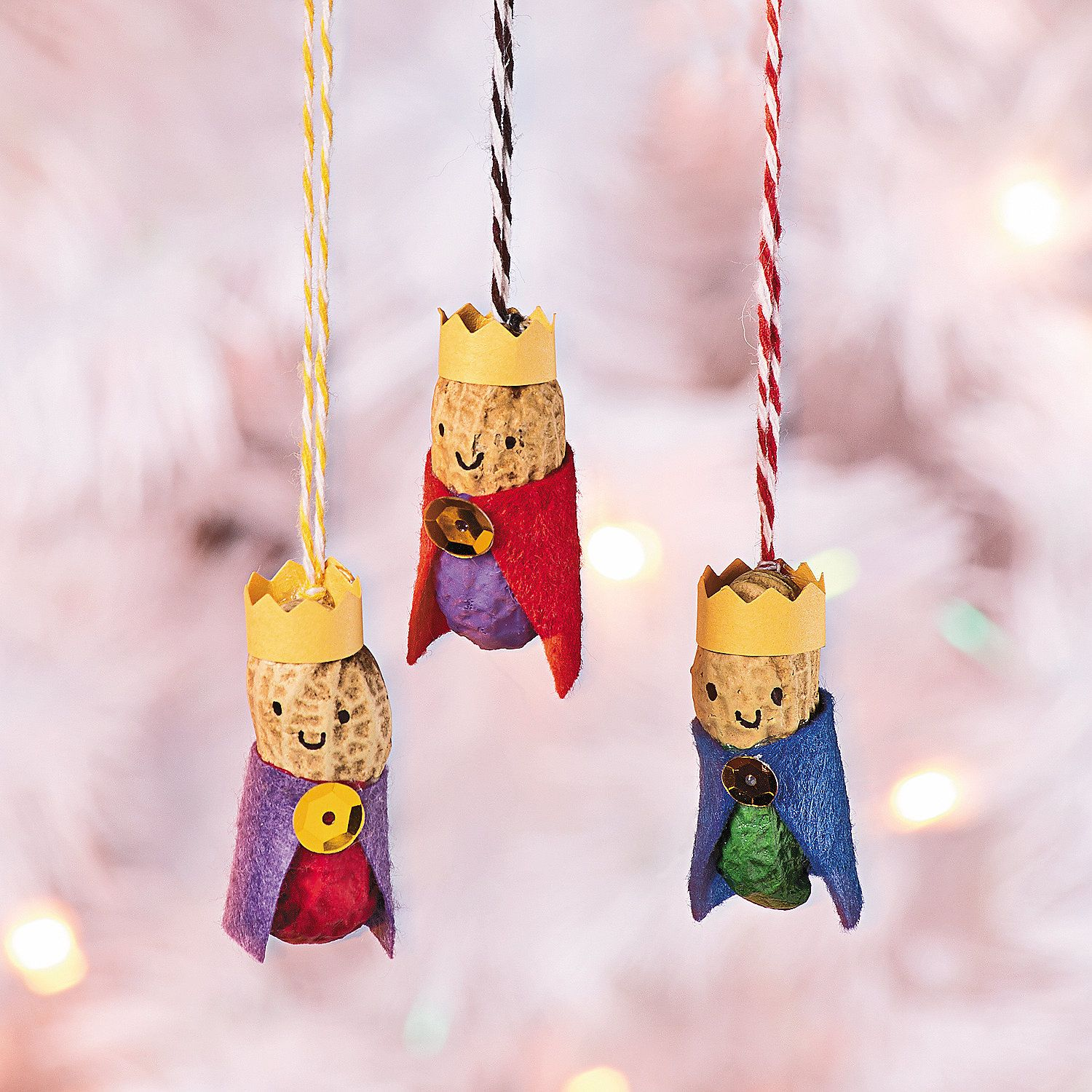Peanut Wisemen Ornaments They May Think They Are Gettin Nuttin