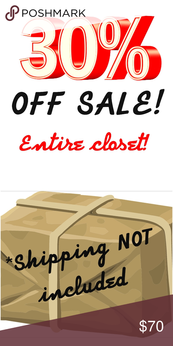 30 Off Sale Every Item 30 Off Every Item Shipping Not Included Shop The Sale While It Lasts Off Sale Things To Sell Sale