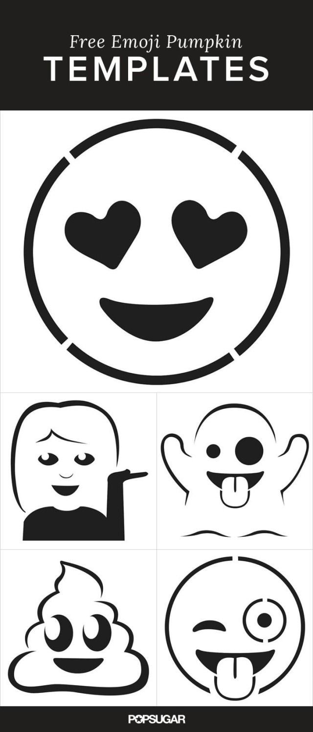 Here Are the Emoji Pumpkin Templates of Your Dreams | Pinterest ...