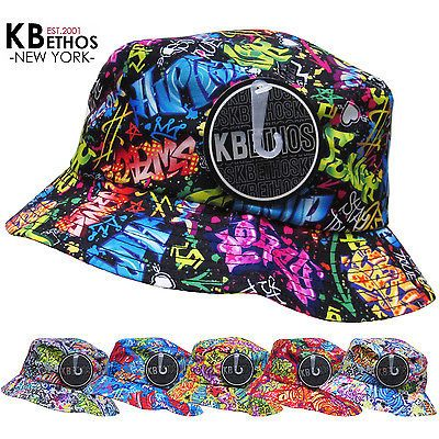 GRAFFITI Bucket Hat Boonie Hunting Fishing Outdoor Cap Unisex 100% Cotton  NEW 6af356af311