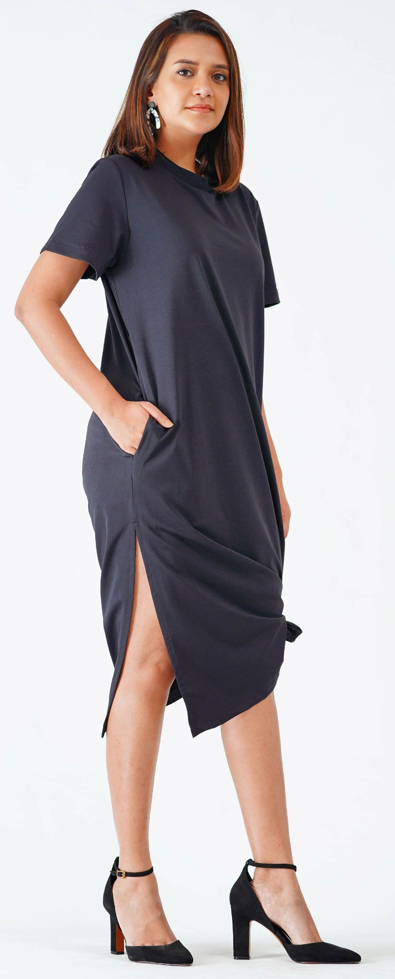 This Shift Dress Is Very Relaxed And Draped Beautifully On You
