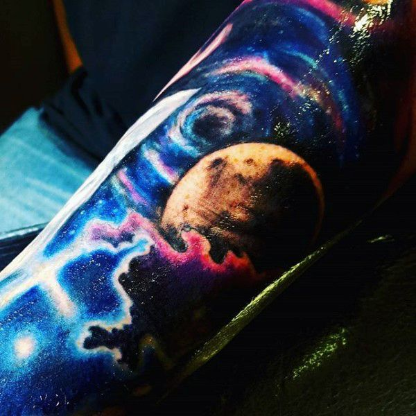 Half sleeve tattoos stars for males sleeve tattoos for Outer space designs norwich
