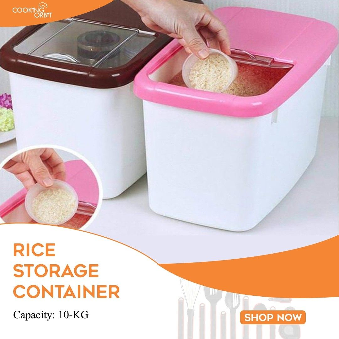 10kg Rice Storage Container In Pakistan In 2020 Kitchen Food Storage Kitchen Storage Containers Food Storage