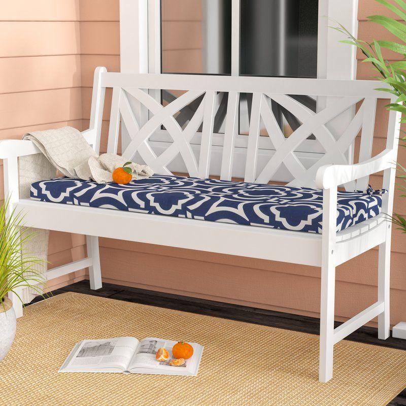 Geometric Indoor Outdoor Bench Cushion Outdoor Bench Bench Cushions Outdoor Lounge Chair Cushions