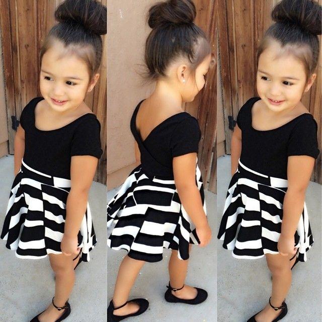 007bf4d5c557 Black   white Skater Skirt