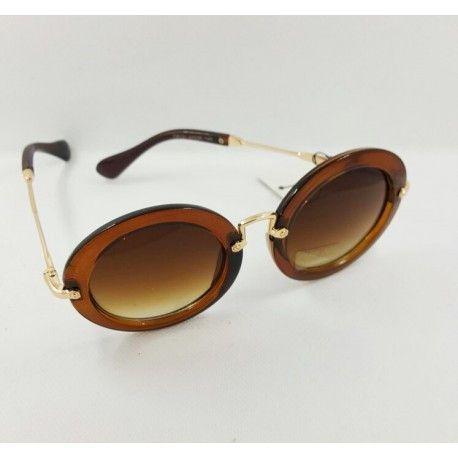 Woman Round Vintage Style fashion Sunglasses