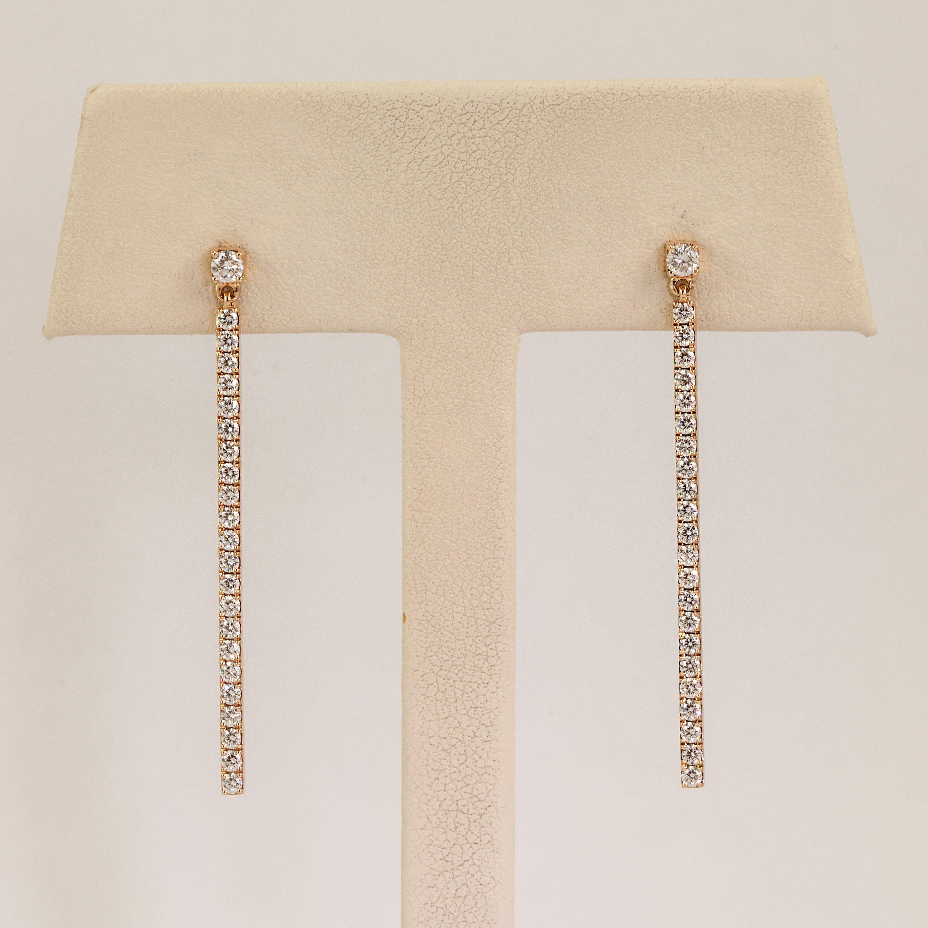 5c03dd9e7 Messika 18 Karat Rose Gold Drooping Gatsby Diamond Line Drop Earrings