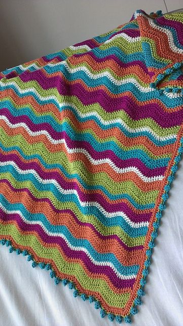 Ravelry: BijouxTree's Broadband's Blankie | Crochet ripple