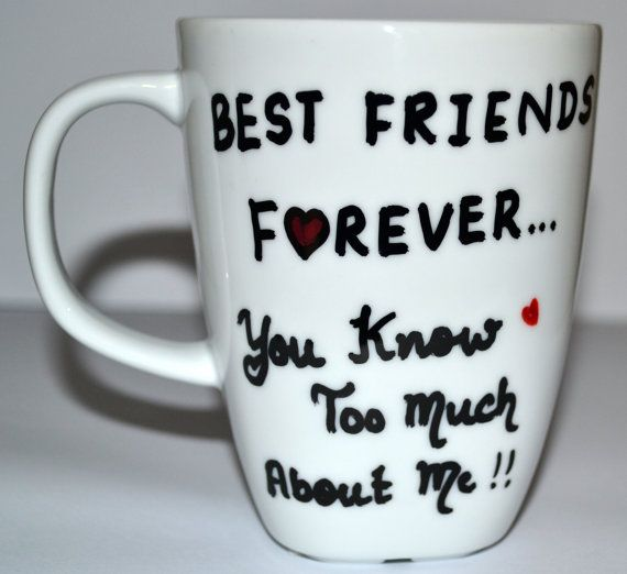 Best Friends Forever Coffee Mug Funny Gift For Friend
