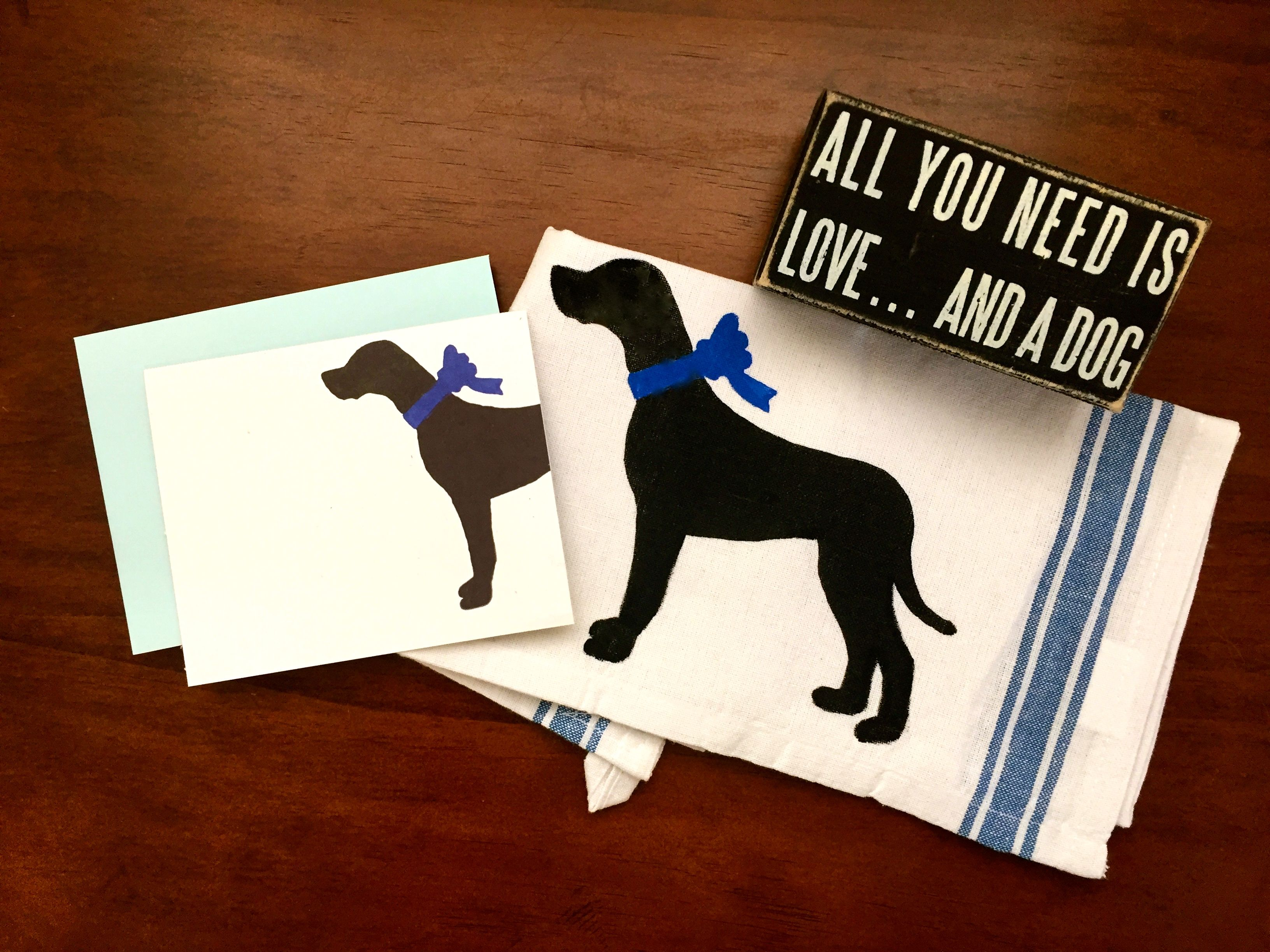 Black Schnauzer Dog T Towel Gift//Present Tea Towel