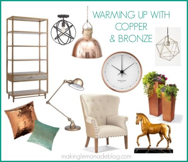 mixed metallics home decor how to mix gold silver copper and bronze for a showstopping look. Black Bedroom Furniture Sets. Home Design Ideas