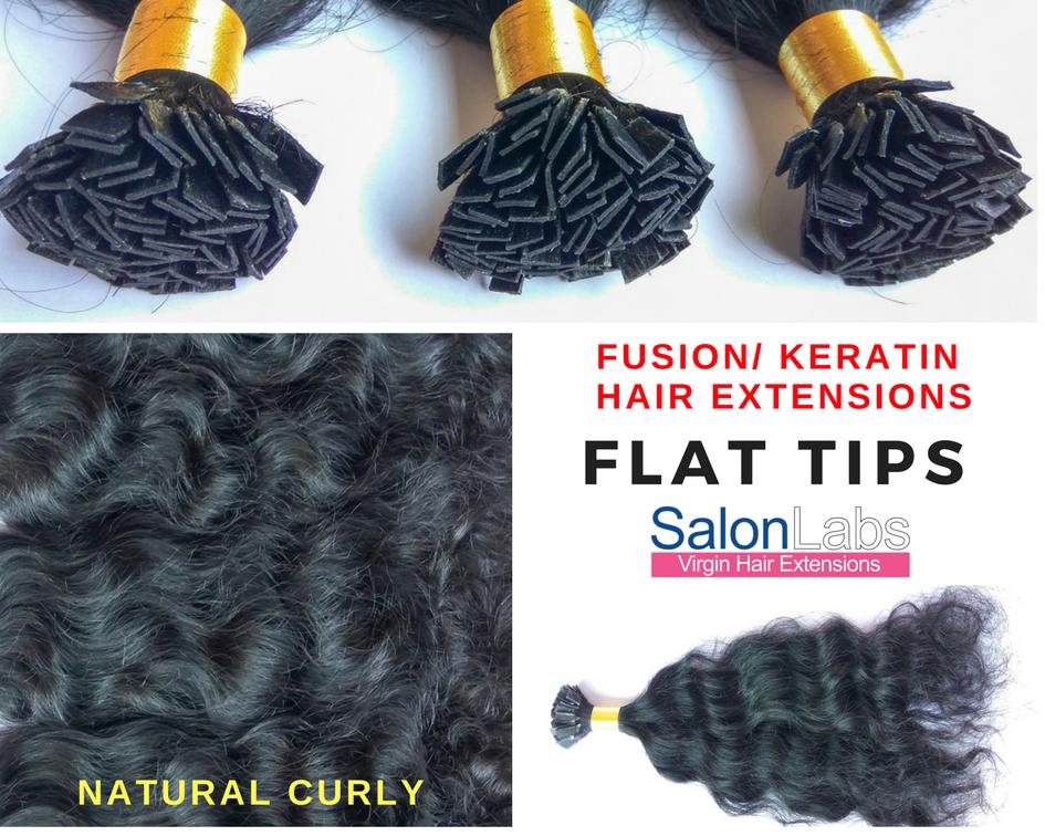 Pre Bonded Fusion Keratin Tips Hair Extensions Flat Tips Finally