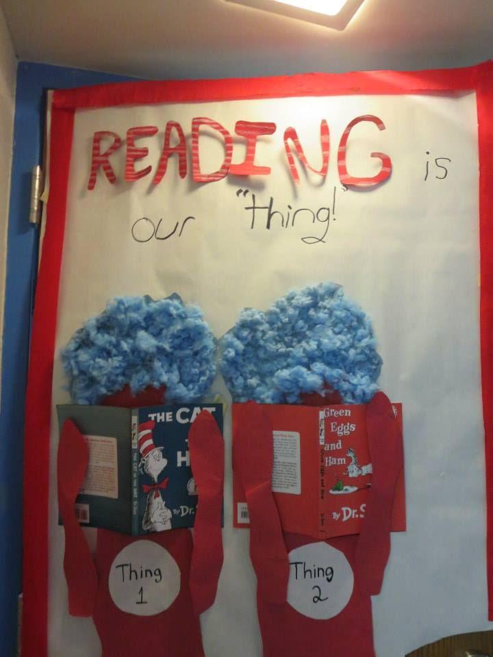My Dr Seuss Door Decoration For Read Across America Week Fox In