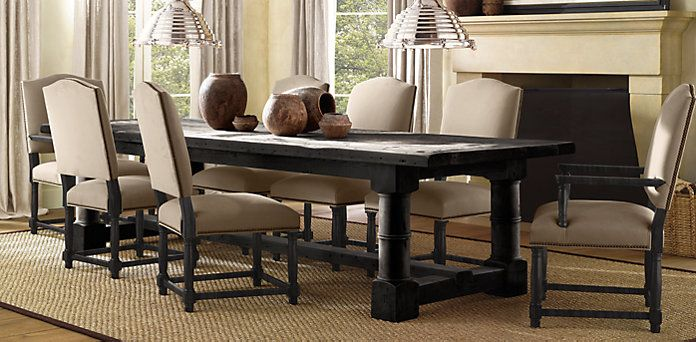Restoration Hardware Dining Table Railroad Tie Round Dining Table