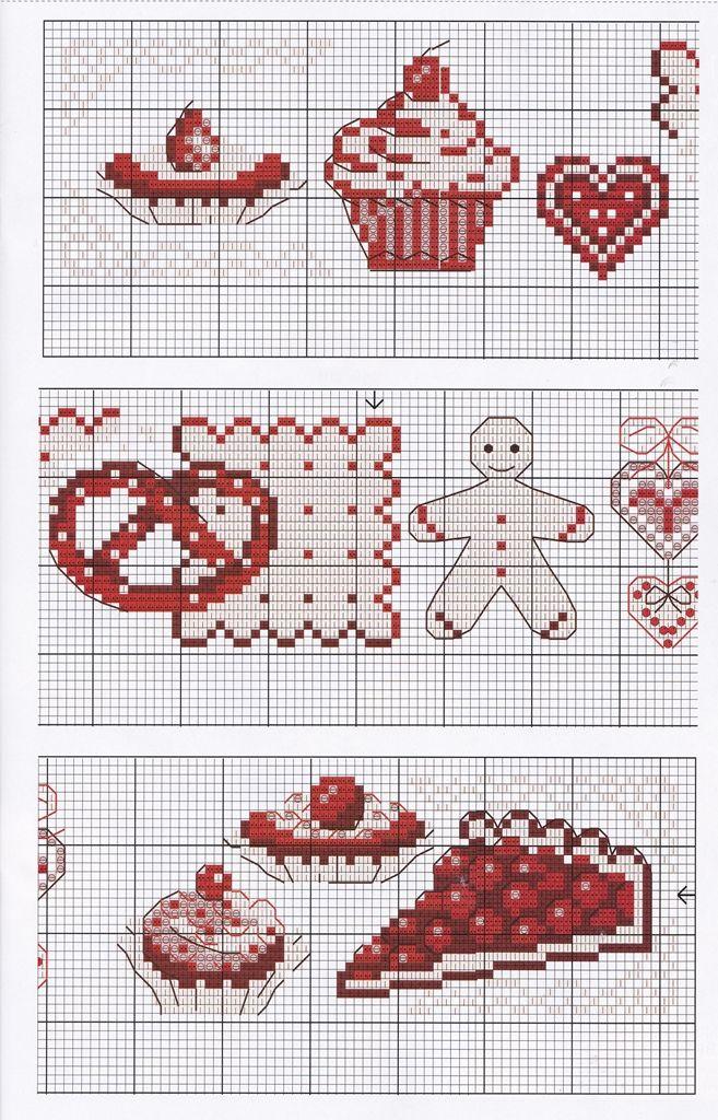 Вышивка крестом схемы фото кухонные