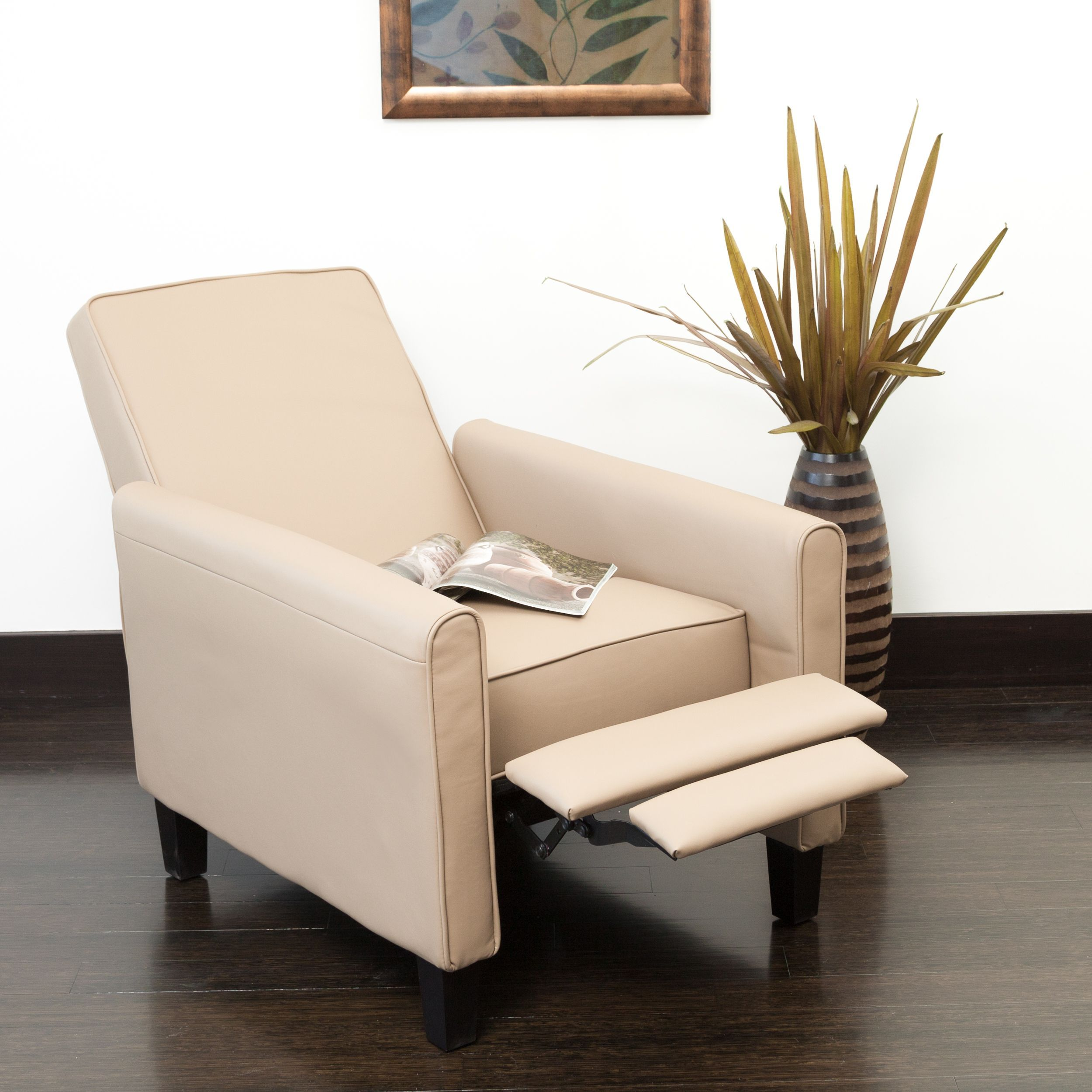 Darvis Camel PU Leather Recliner Club Chair By Christopher Knight Home By Christopher  Knight Home