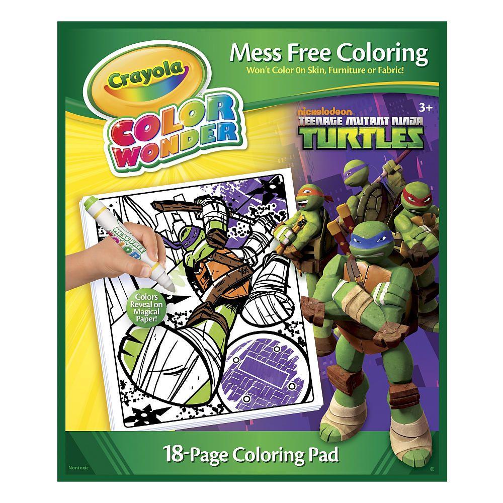 crayola color wonder coloring pad teenage mutant ninja turtle - Color Wonder Books