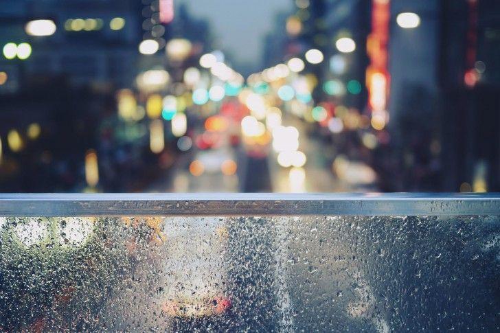 Tokyo Lights Glass Night Window City Wallpapers Rain