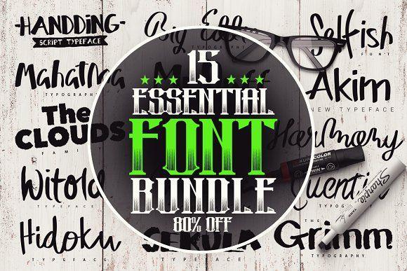 Download 15 Essential Font Bundle | Font bundles, Logo fonts, Fonts