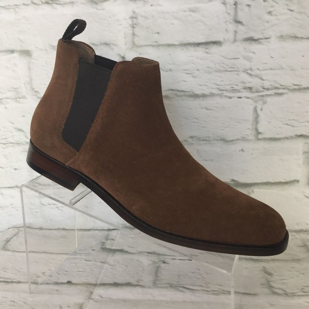 159ffa7dbb Aldo MARQ R Mens Size 9.5 M Suede Square Toe Ankle Chelsea Boots medium  brown #Aldo #ChelseaBoots