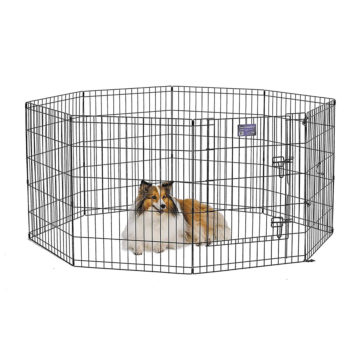 Midwest Exercise Pen Pet Playpens 8 Panels Each W 5 Height Options Ideal For Any Dog Breed Details Can Be Found By Clicking On Th Dog Crates Dog Playpen Puppy Playpen Playpen