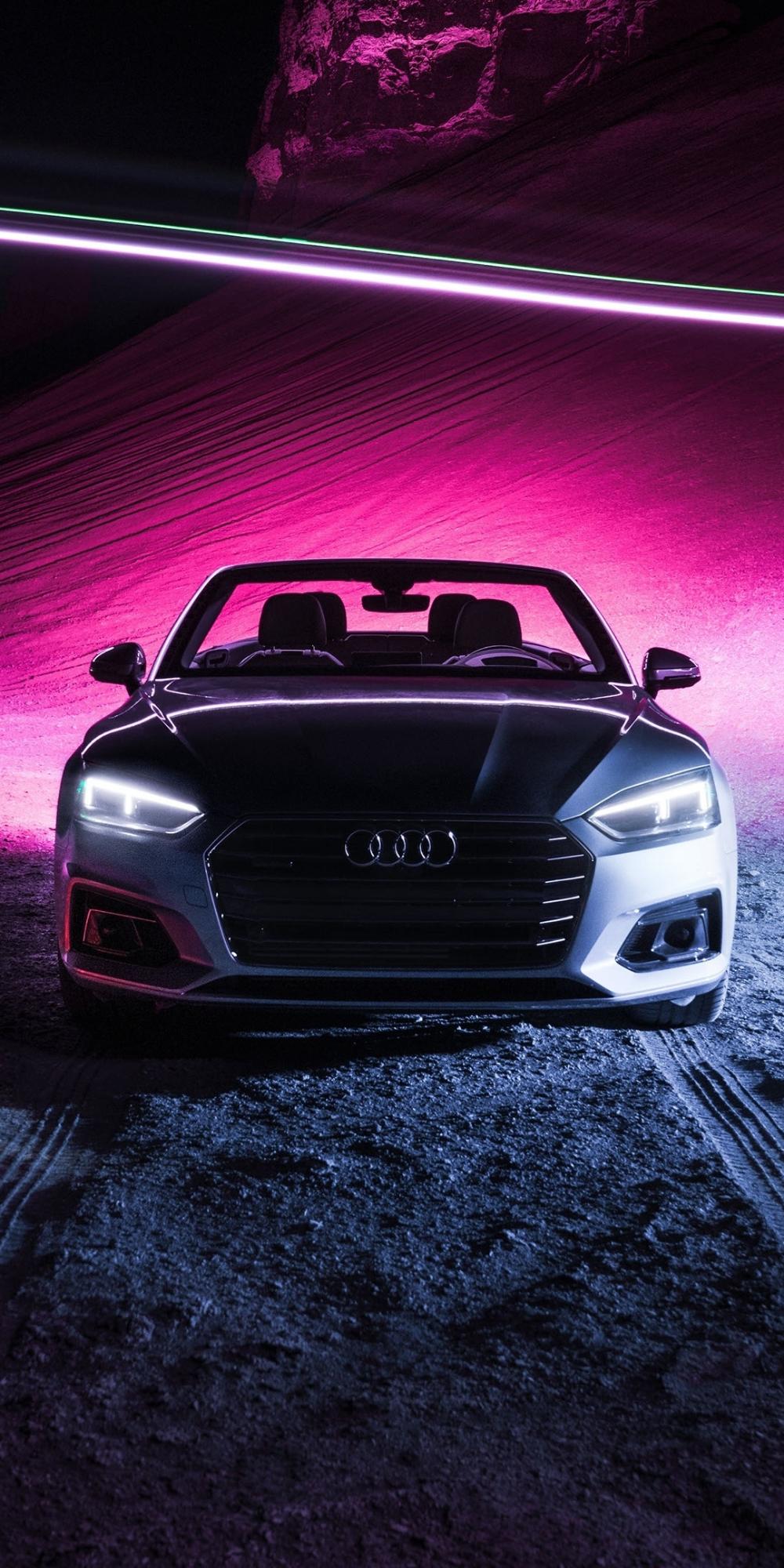 Audi A5 Cabriolet, sports car, 1080x2160 wallpaper