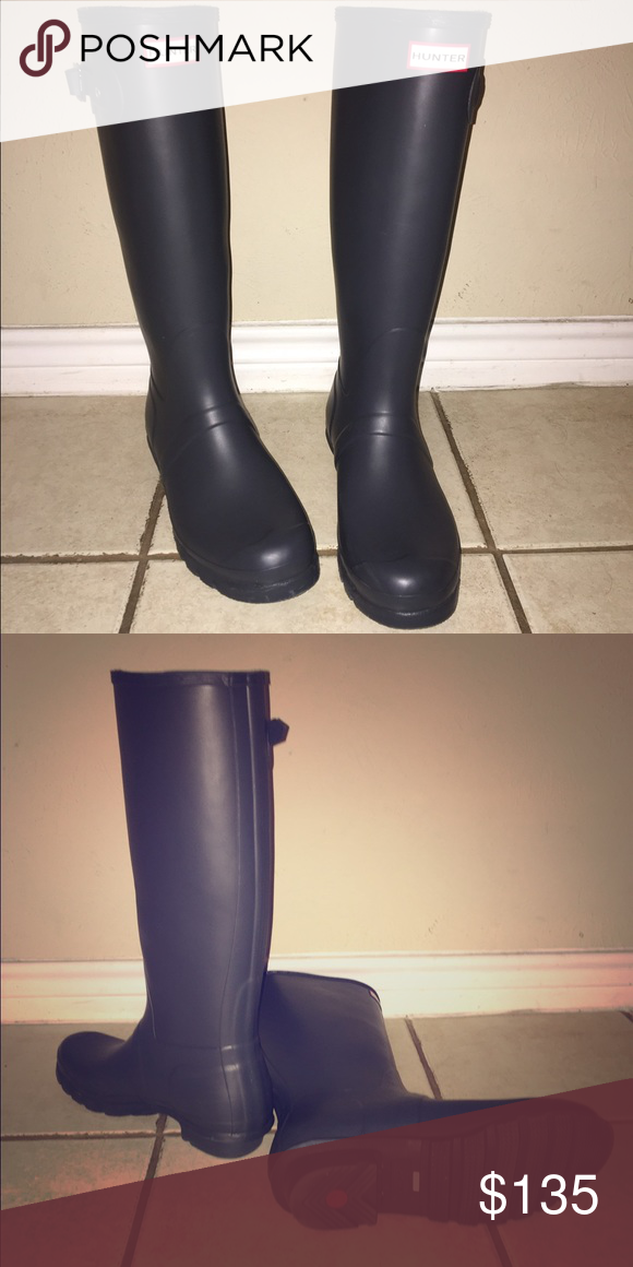 Matte grey Hunter boots size 11. They are the tall original matte grey hunter  boots f3110f3ab
