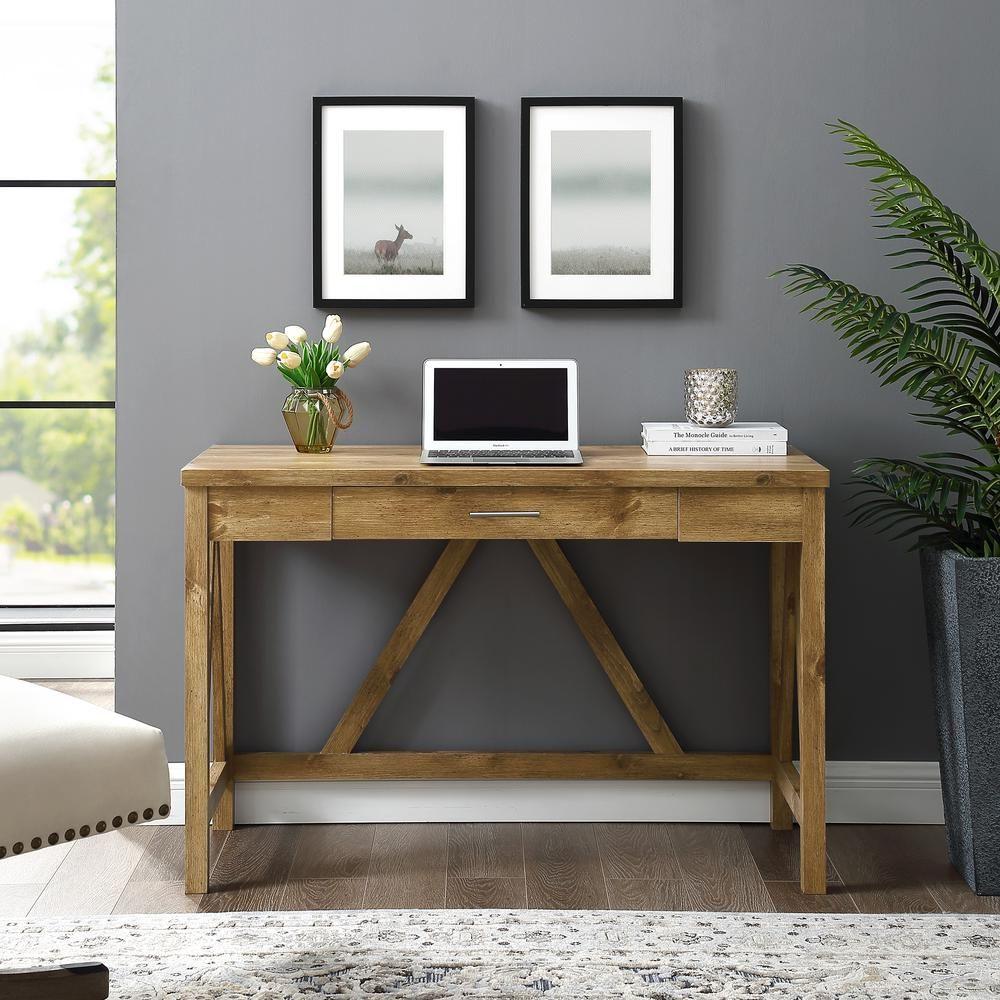 46 rustic farmhouse wood computer desk in barnwood