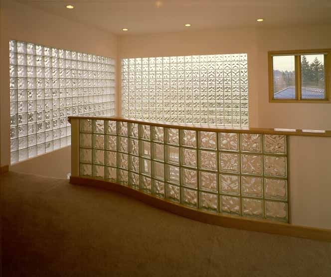 Using Glass Blocks In Your Home Glass Blocks Wall Glass Brick Brick Wall Living Room