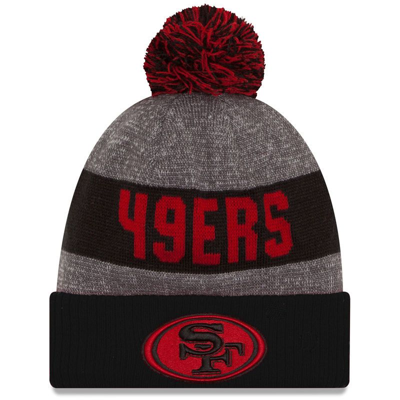 0f40a74d1e0 San Francisco 49ers New Era Sideline Official Sport Knit Hat - Heather Gray