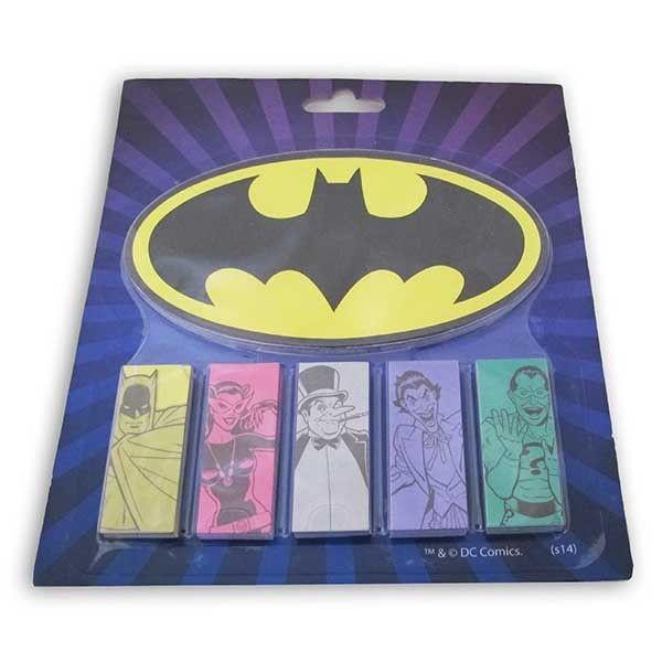 Bloco de Notas com Adesivos Batman