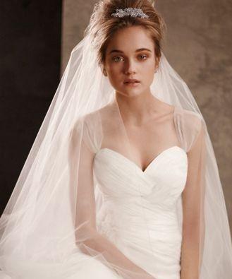 High Bun With Veil Headdress Wedding Dresses Vera Wang