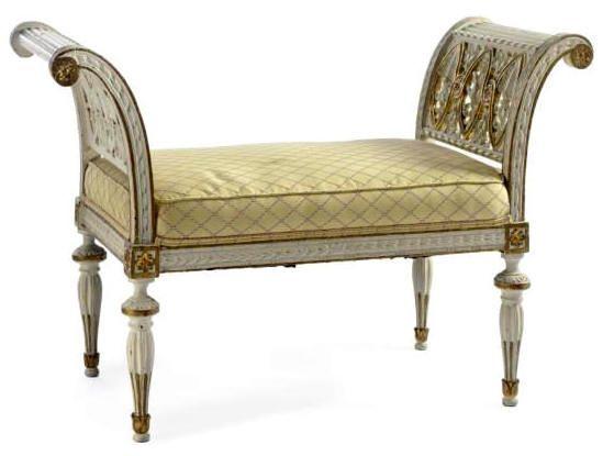 Period Swedish NeoClassical Window Seat.     Gallery Window seat?