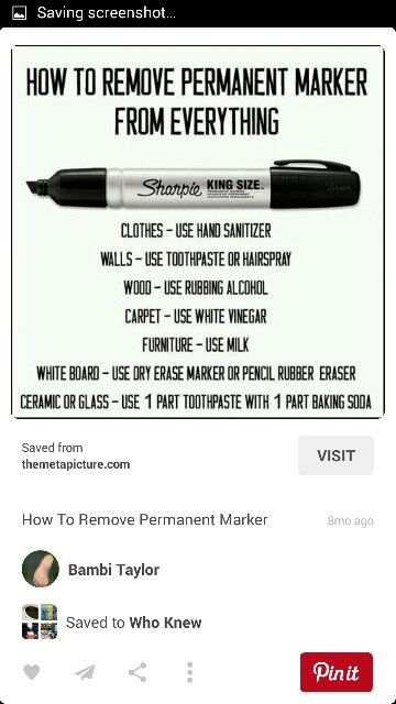 Permanent Marker Home Cleaning Remedies Permanent Marker Dry Erase