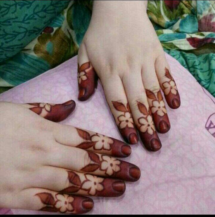 Cute Finger Tips Mehndi Design