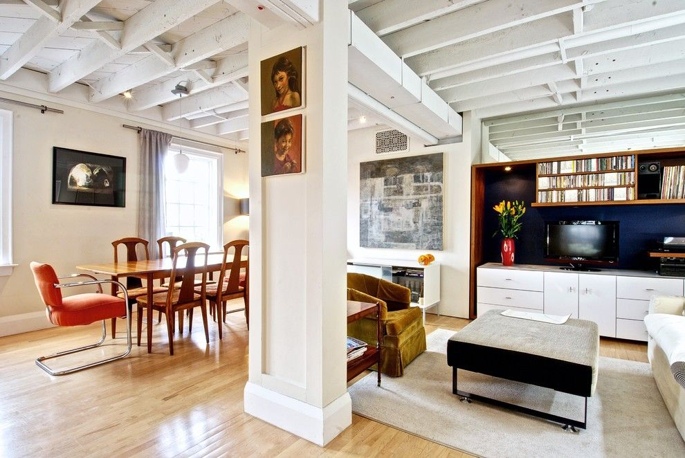 Joists Painted White Exposed Beam Ceilings Pinterest