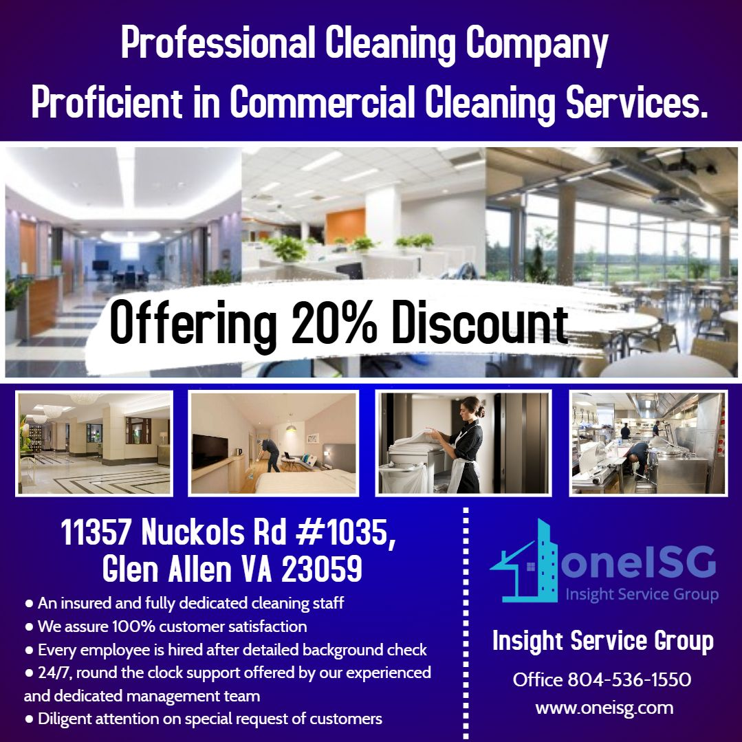 Professional Cleaning Company Proficient In Commercial Cleaning