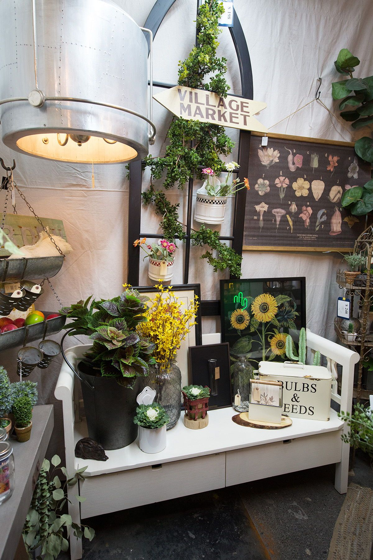 Botanical home decor and garden accessory finds at City