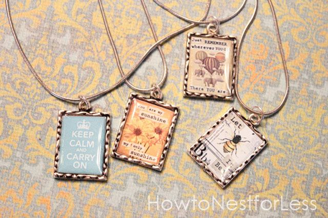 vintage inspired pendant necklaces -- love these!