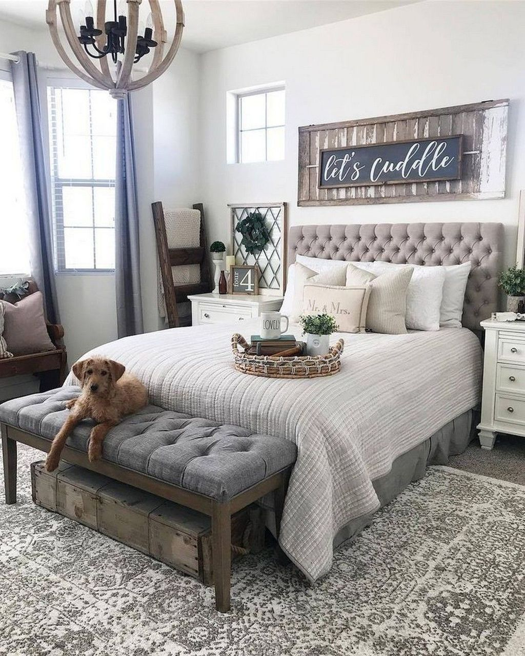 35 Fabulous Farmhouse Style Bedroom Decoration Ideas With Images Rustic Master Bedroom Remodel Bedroom Master Bedrooms Decor