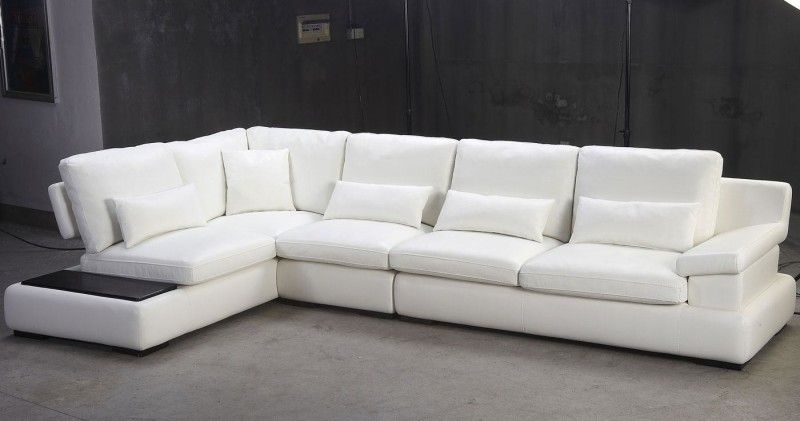 Contemporary White Living Room Sofa L Shape Modern Living Room
