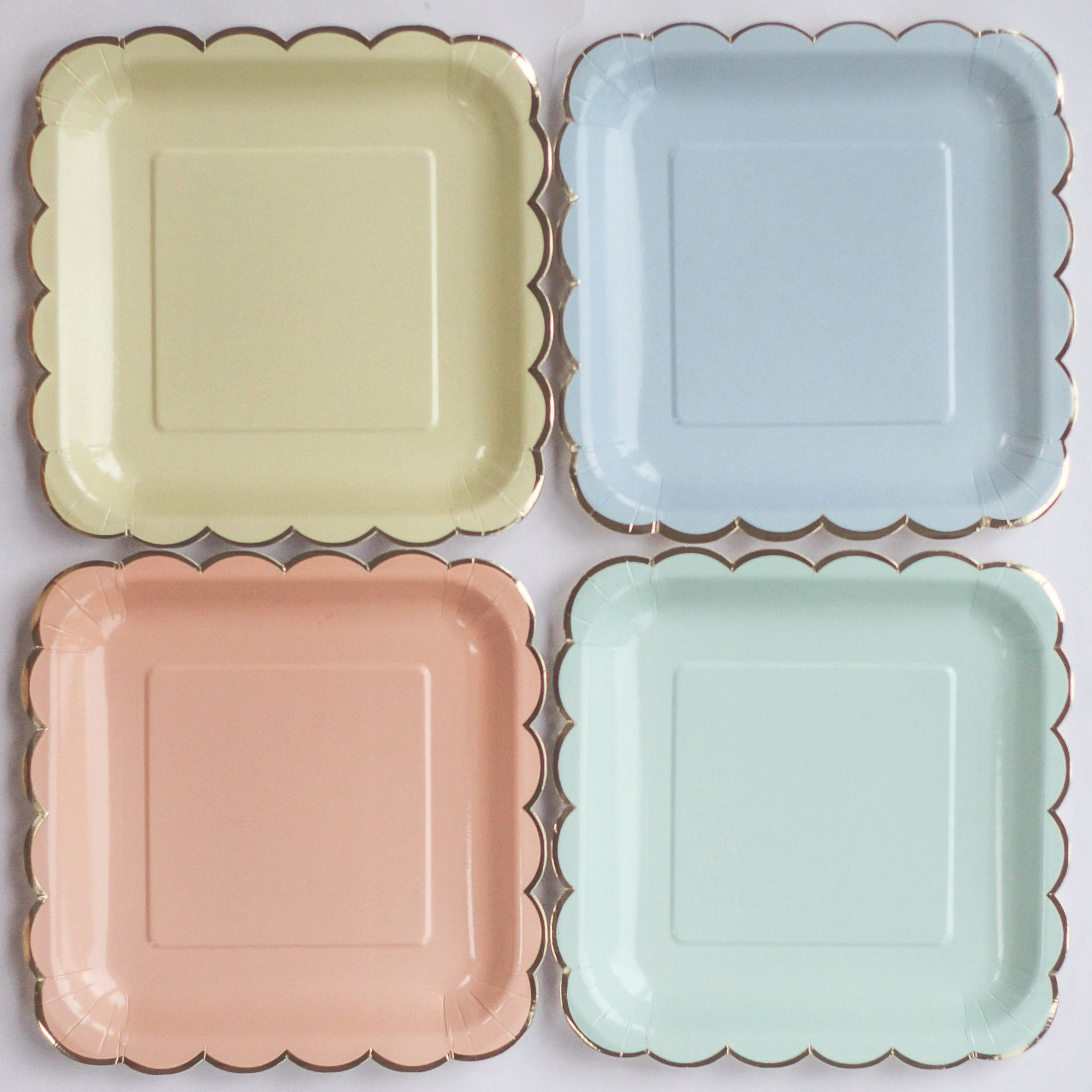 Large Pastel Paper Plates (8 pack) from Pretty Little Party Shop - Stylish Party & Pastel Mix Paper Plates - Large (8 pack) | Pastel paper and Pastels