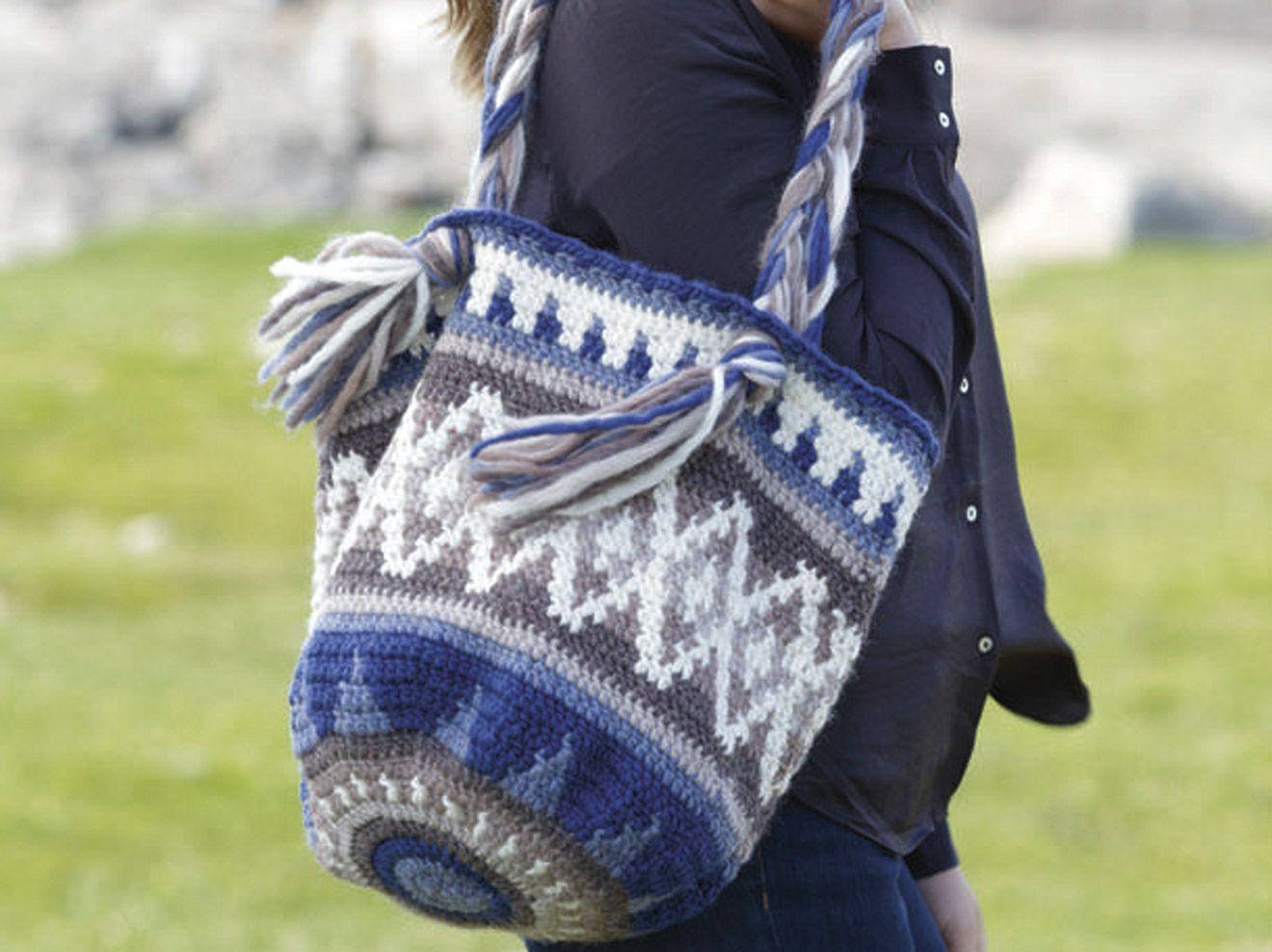Anleitung: Tasche häkeln | Eskimo, Farbmuster und Brieftaschen