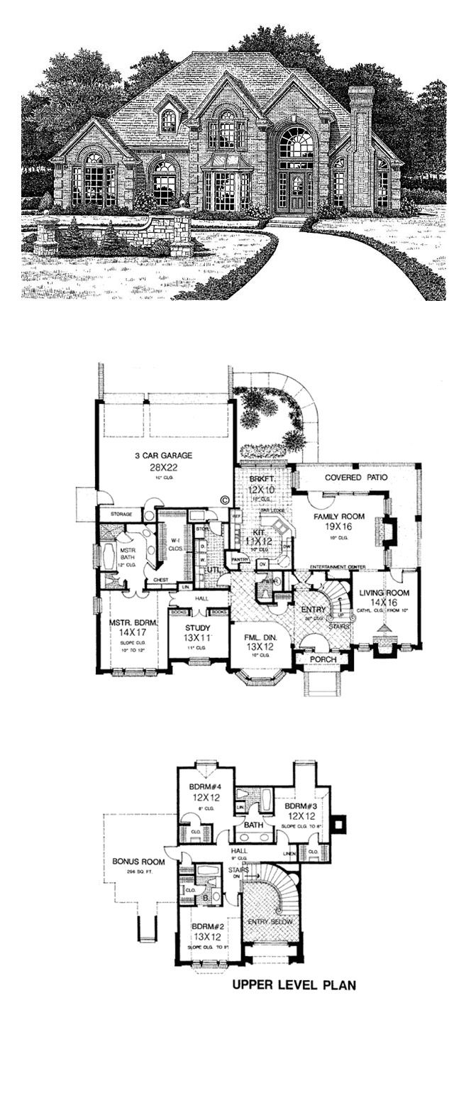 European Style House Plan Number 66003 with 4 Bed, 4 Bath, 3 ... on house building, house blueprints, house rendering, house elevations, house framing, house layout, house maps, house styles, house exterior, house foundation, house types, house painting, house design, house construction, house drawings, house structure, house plants, house models, house clip art, house roof,
