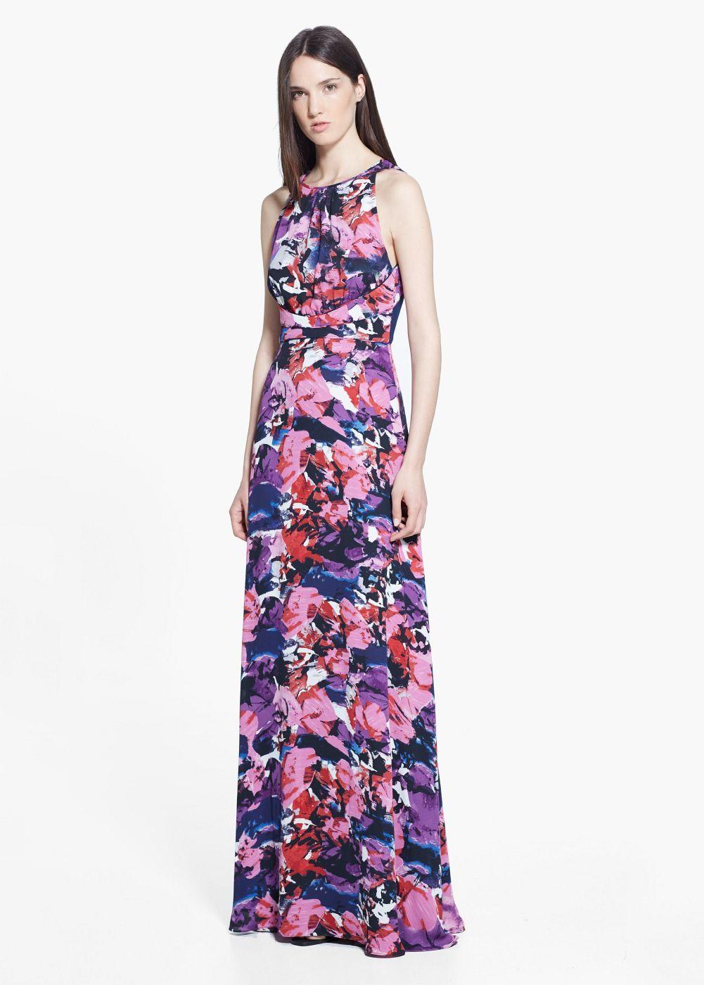 9a092041fca16 Robe longue imprimée Mango 109,99€   S T Y L E .   Pinterest ...
