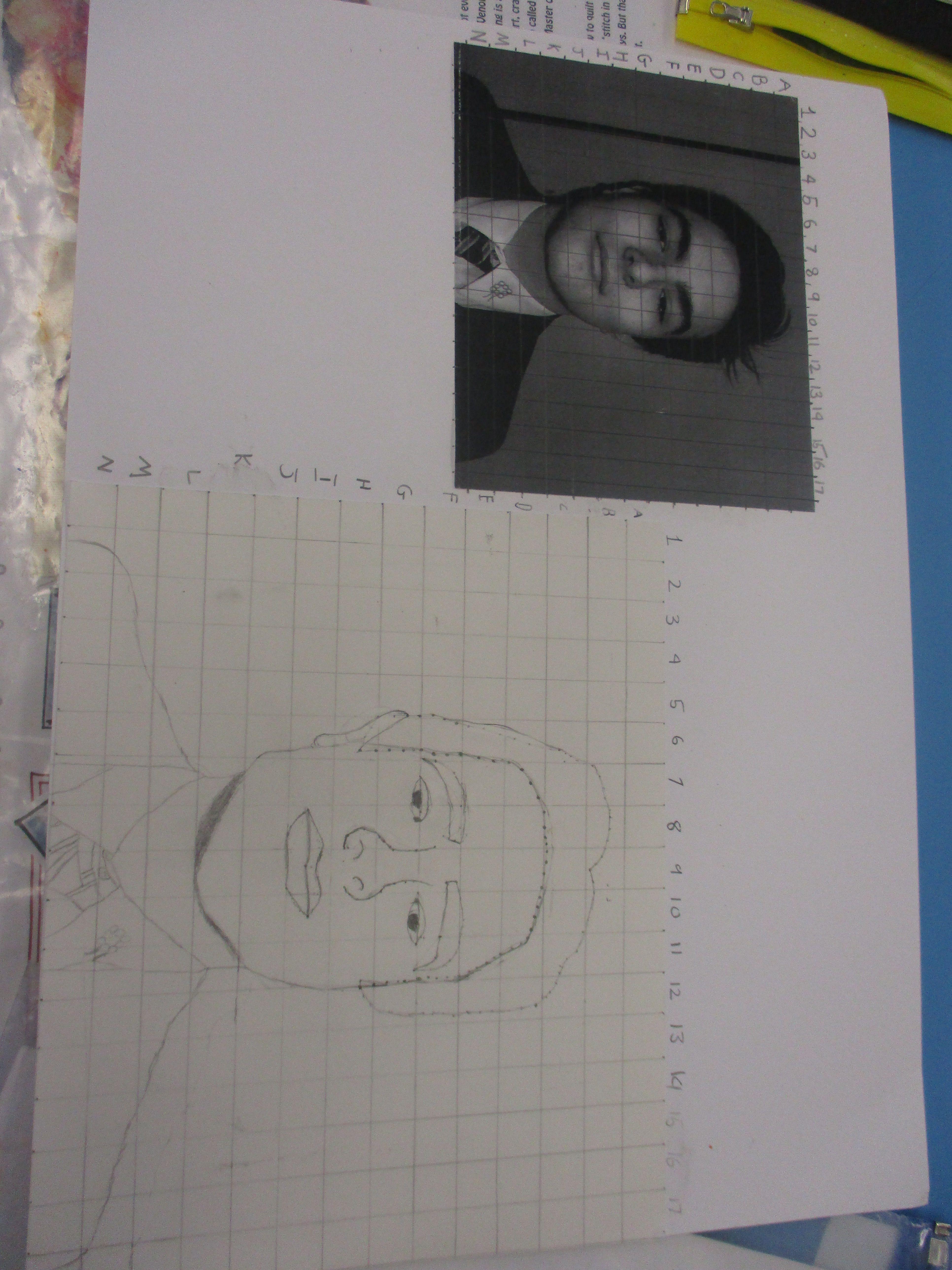 Tonal Drawing Of Portraits Using The Grid Method